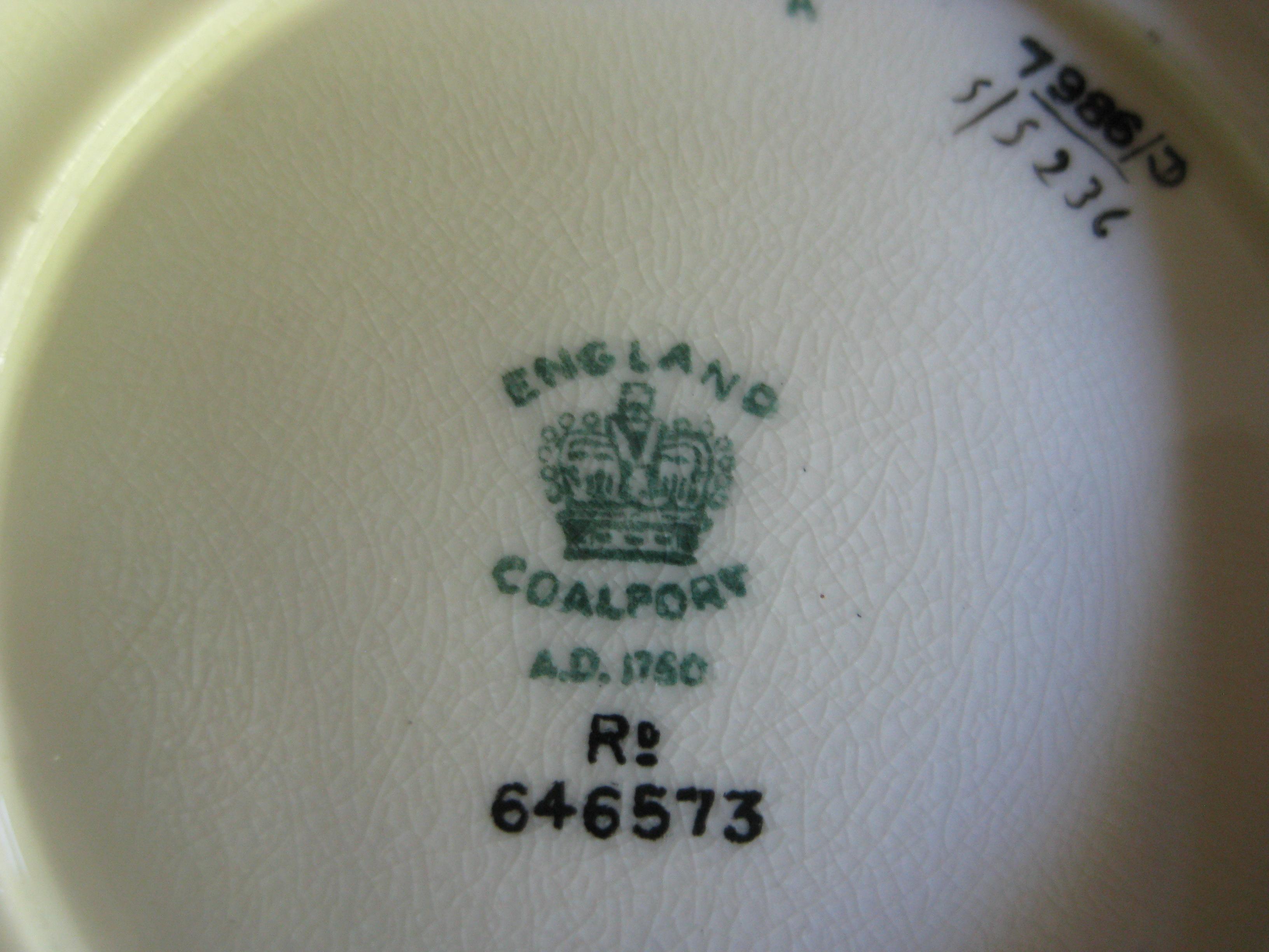 C11a. Coalport vase mark