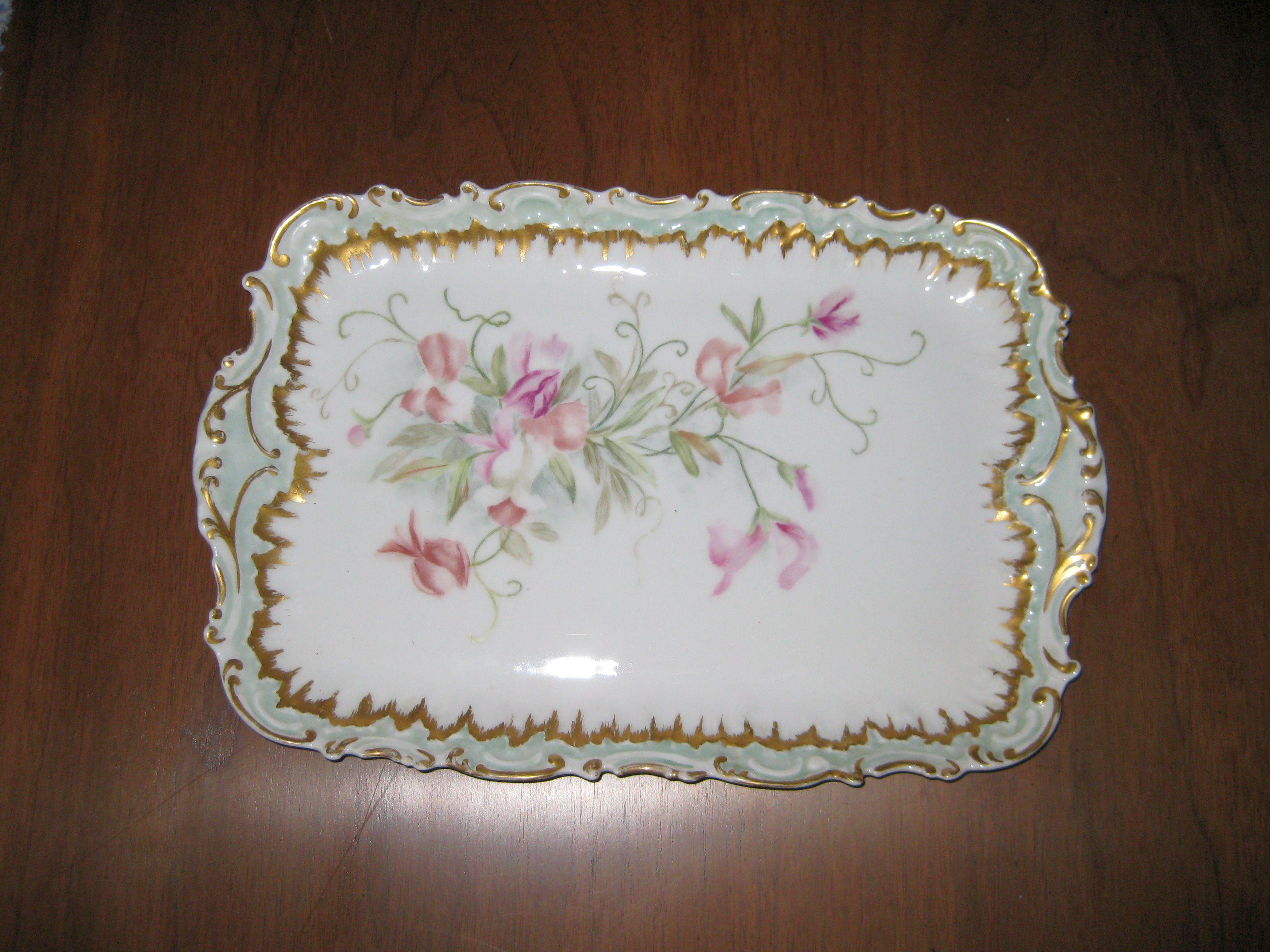 C6. Limoges Cake Plate c. 1900