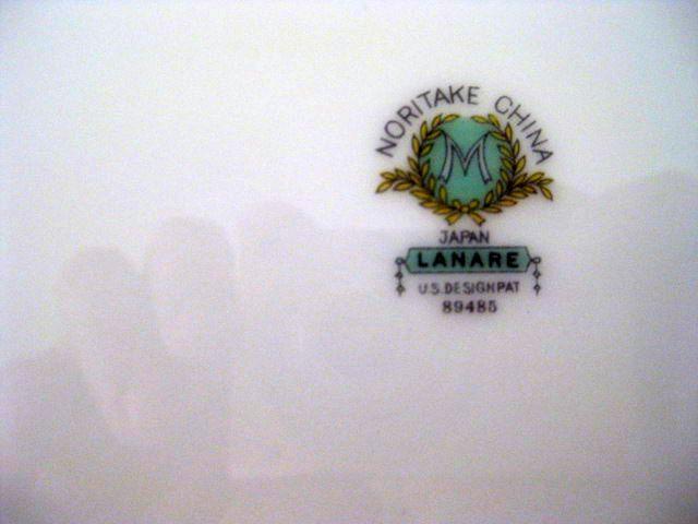 PT1a. Noritake platter mark