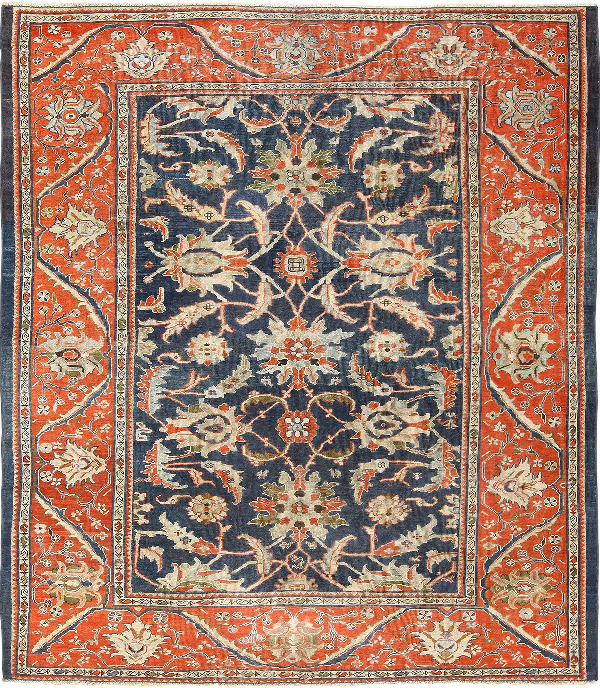 AR26. Antique Persian Sultanabad 8-5 x 9-10