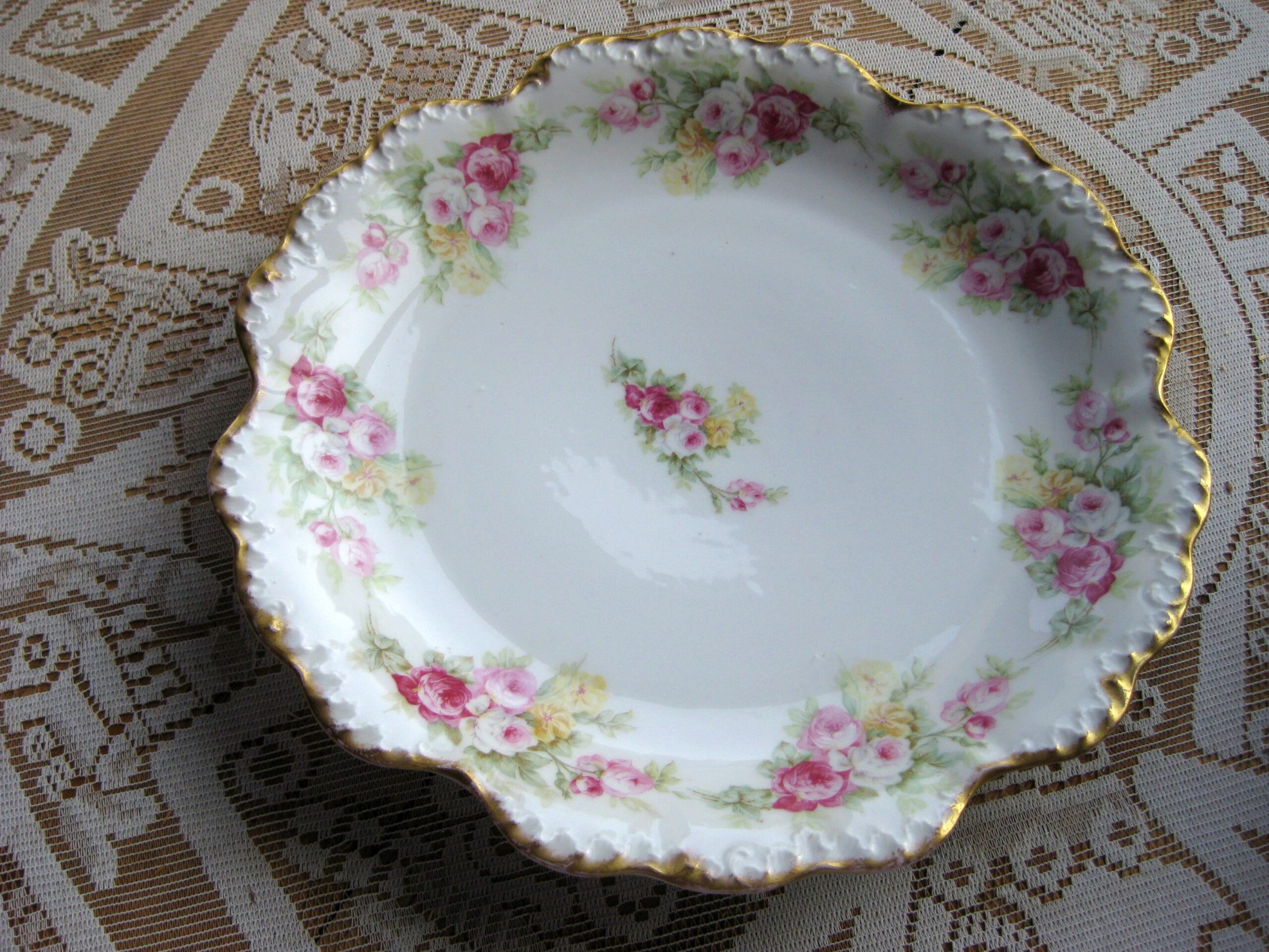 C3. Limoges large cake plate